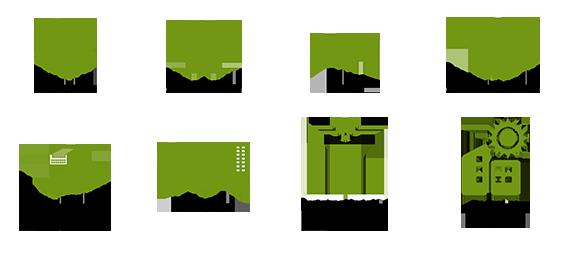 Electricidad, climatización, fluidos, contra incendios, comunicaciones y seguridad, iluminación, automatización y control, energías renovables
